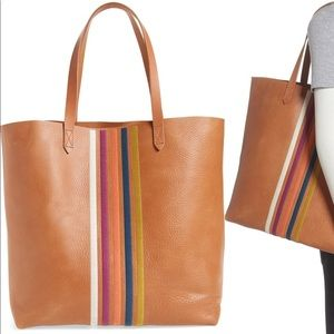 Madewell Transport Stripe Embroidered Tote